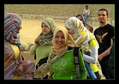 Sourire niais d'une égyptienne