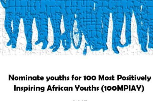 Article : Appel à nomination : les 100 jeunes Africains les plus positifs et influents