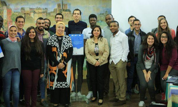 Au terme d'un atelier collaboratif avec Gael Faye au CAF-Bibliotheca Alexandrina | @Afropolitanis