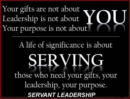 Servant Leadership is about giving. Credit: Ps Robert Hurst_Afropolitanis