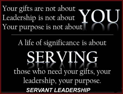 Servant Leadership is about giving. Credit: Ps Robert Hurst_Afropolitanis