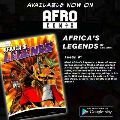 Superhéros noirs appelés Africa's Legends © Leti Arts Ngnaoussi Elongue