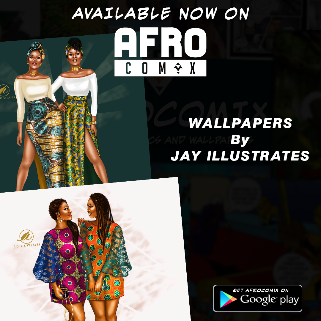 Wallpaper of African Women by Jay Illustrates © Leti Arts @ Ngnaoussi Elongue