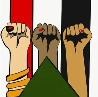 Signe de protestation contre la condamnation de Noura Hussein au Soudan